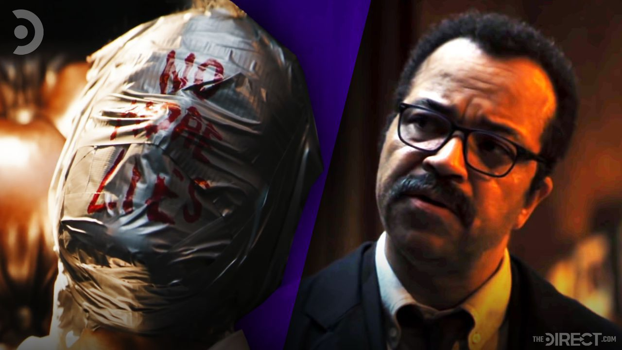 Dead body from The Batman on left with James Gordon on right