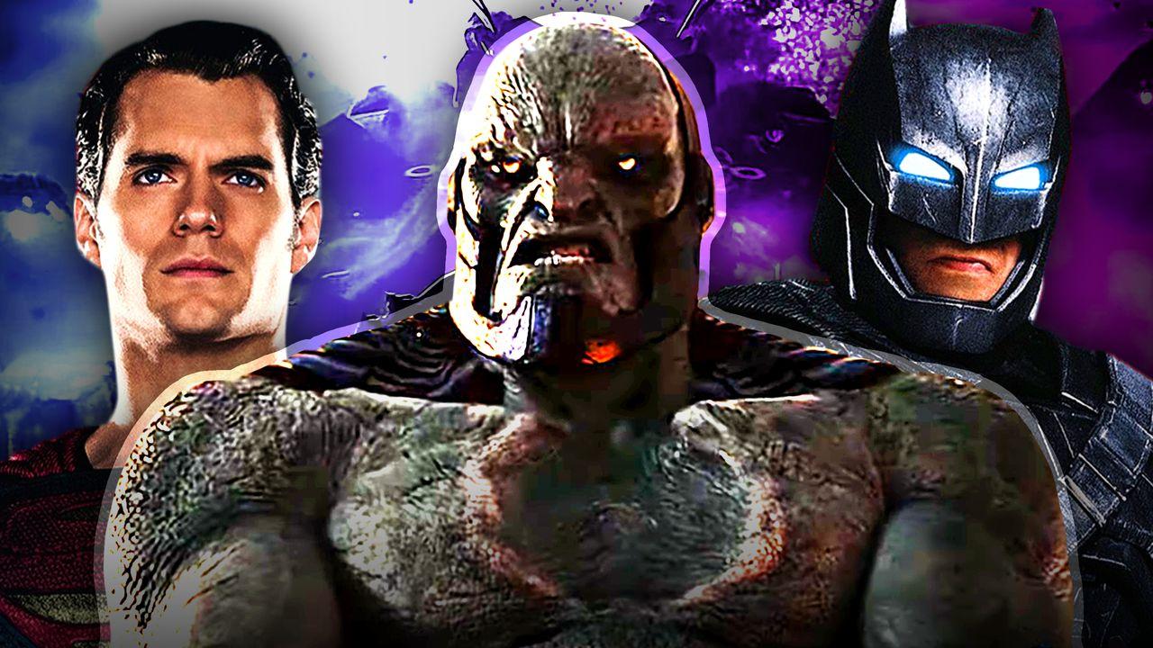 Darkseid, Henry Cavill as Superman, Ben Affleck as Batman
