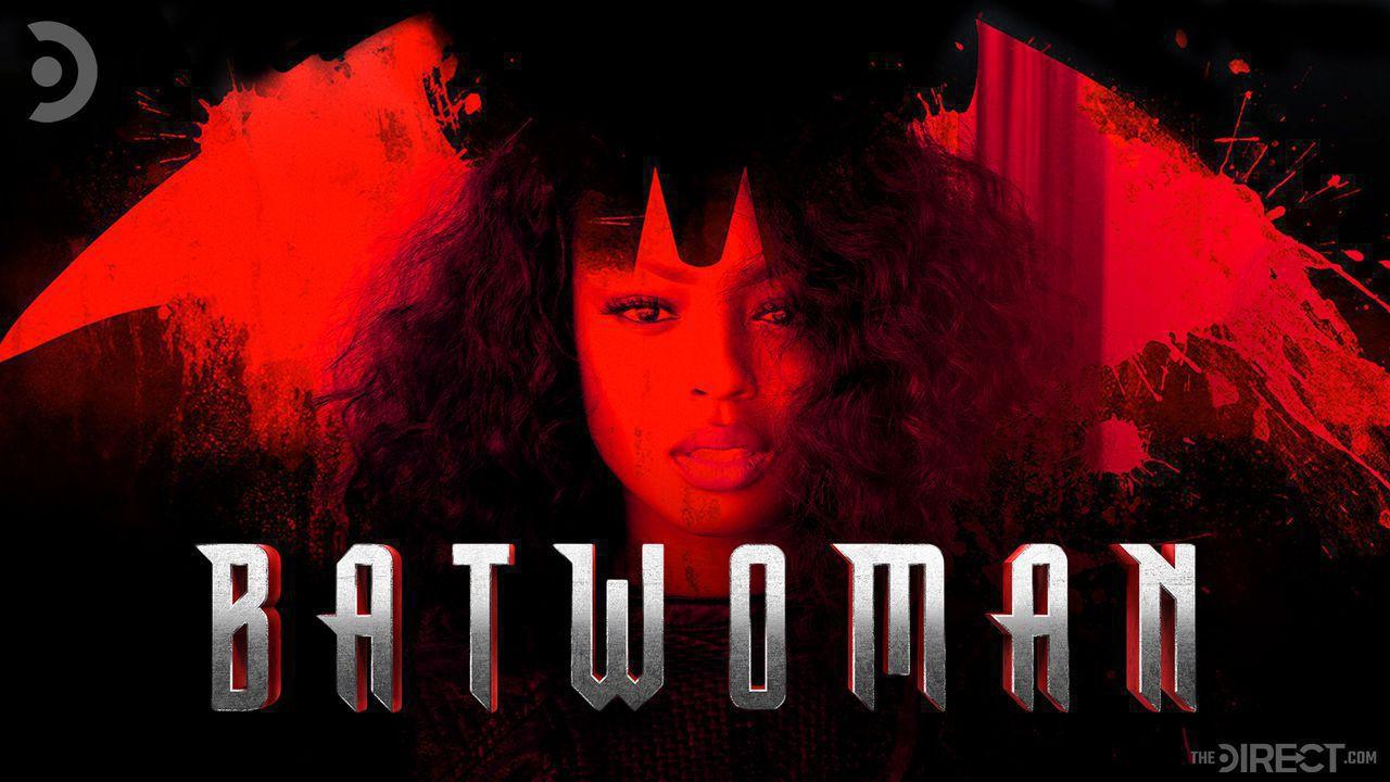 Javicia Leslie superimposed onto the Batwoman logo