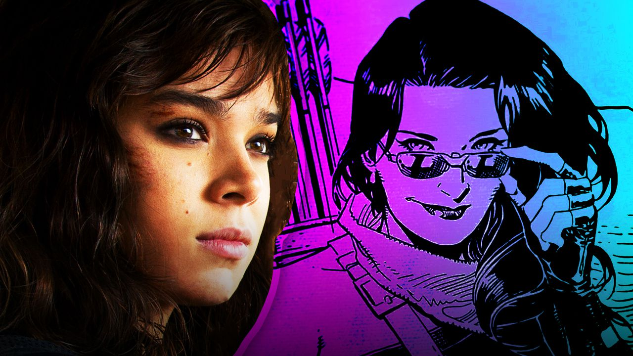 Hailee Steinfeld on the left and Kate Bishop on right
