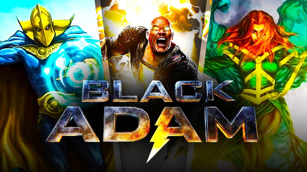 Black Adam and Doctor Fate Art