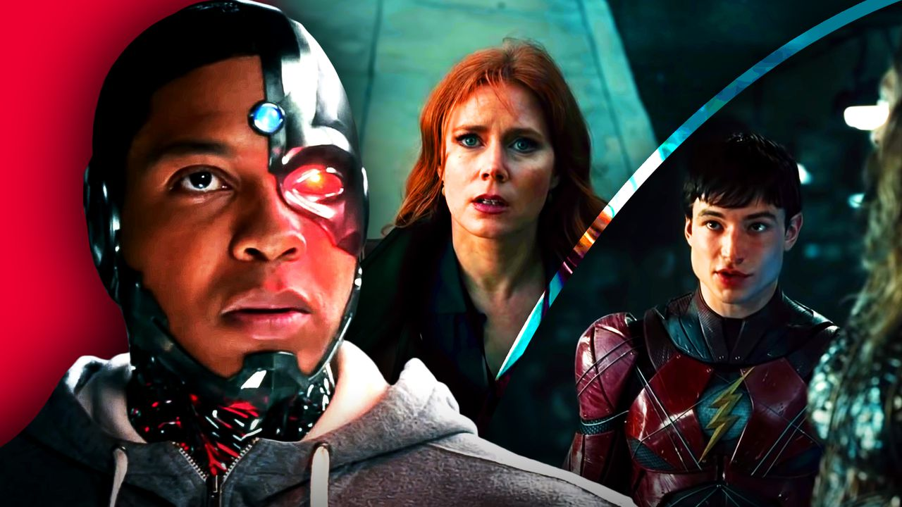 Cyborg, Lois Lane, The Flash in Justice League