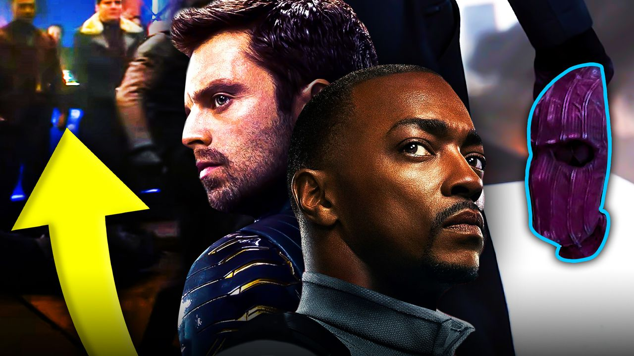 Sam Wilson and Zemo, The Winter Soldier and Falcon, Zemo's mask