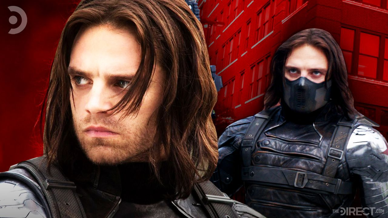 Sebastian Stan as The Winter Soldier with and without mask
