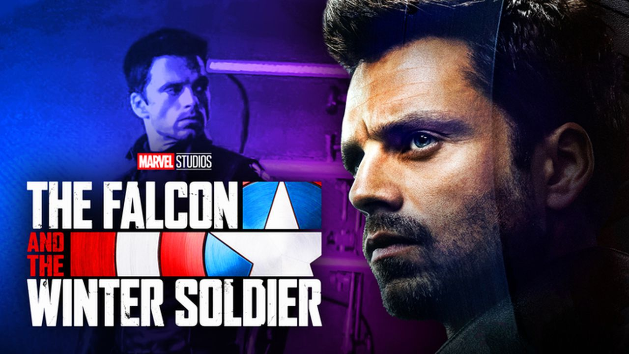 Sebastian Stan Winter Solider, The Falcon and the Winter Soldier logo