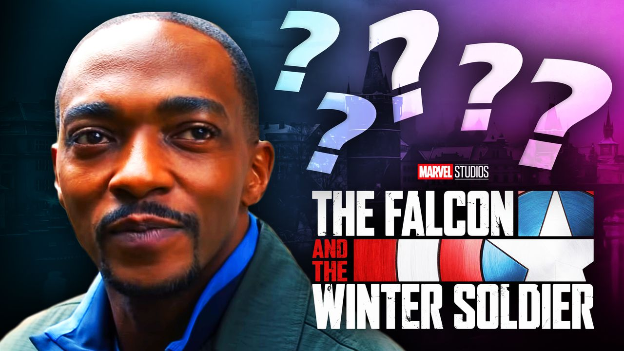 The Falcon and the Winter Soldier logo, Anthony Mackie as Sam Wilson