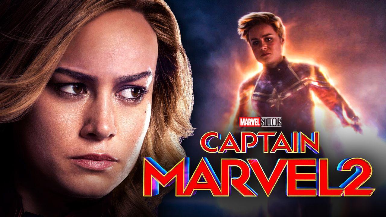 Captain Marvel 2 logo, Brie Larson as Captain Marvel