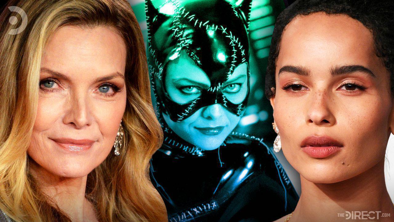 Michelle Pfeiffer, Michelle Pfeiffer as Catwoman in Batman Returns, and Zoë Kravitz