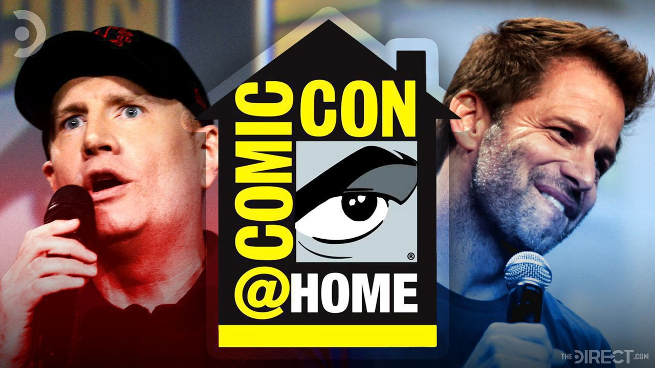 Kevin Feige, Comic-Con@Home Logo, and Zack Snyder