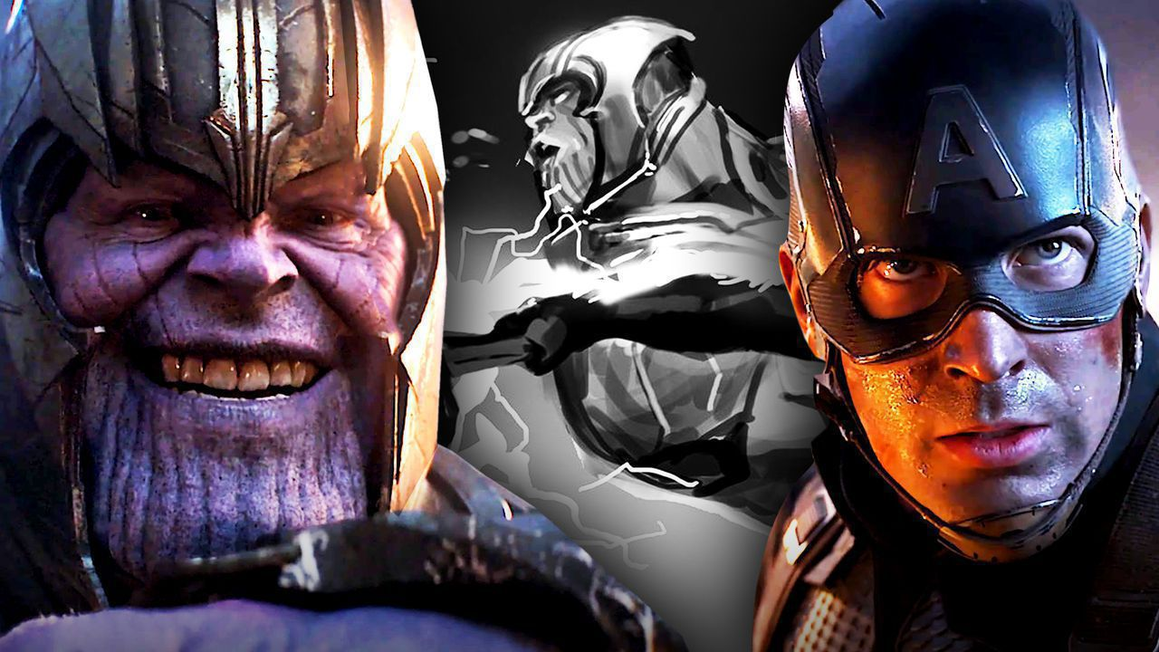Josh Brolin as Thanos, Chris Evans as Captain America