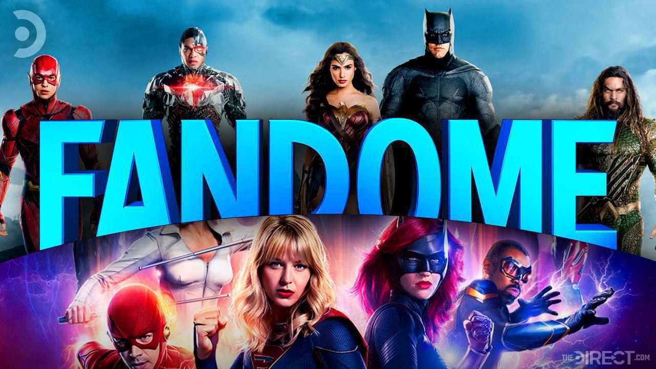 DC FanDome logo, Justice League, The Flash, Supergirl, Batwoman, Black Lightning