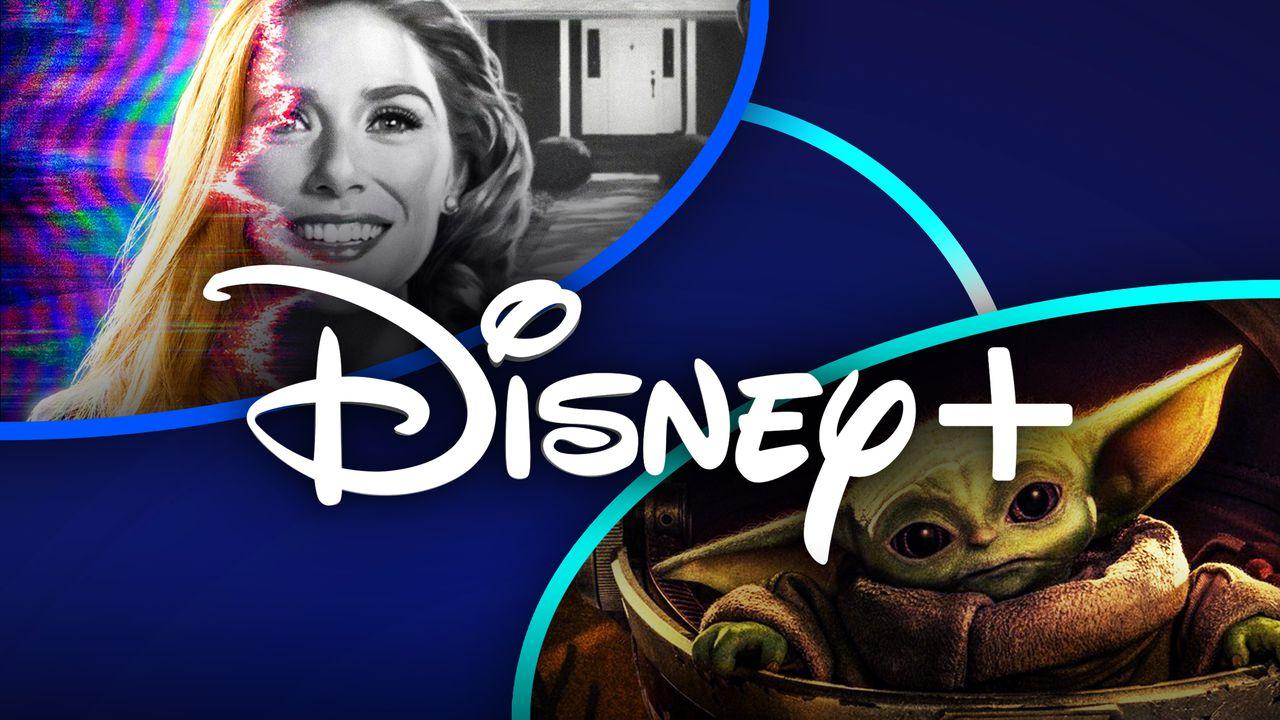 Disney+ logo, Wanda Maximoff, Baby Yoda