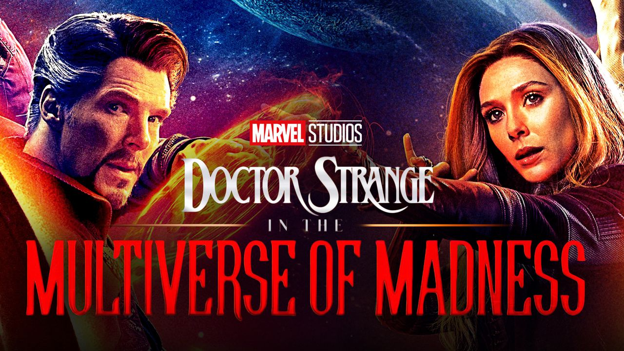 Doctor Strange, Scarlett Witch, 'Doctor Strange in the Multiverse of Madness' title logo