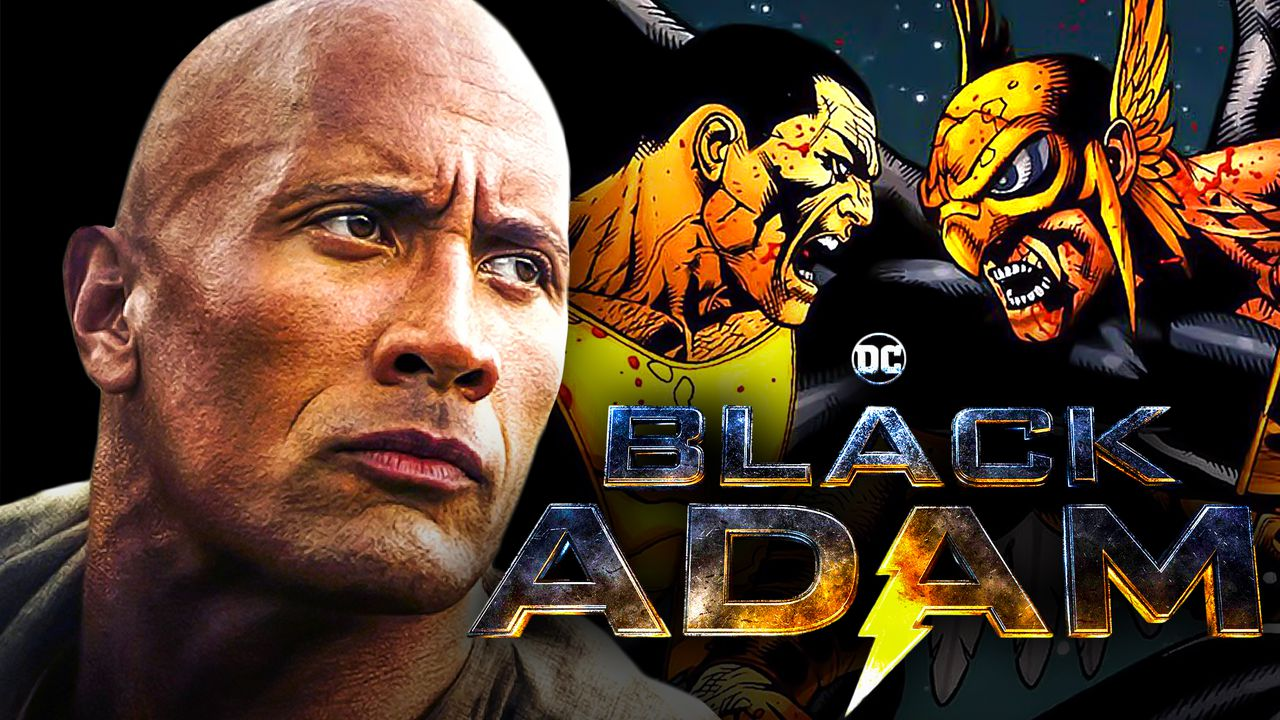 Dwayne Johnson, Black Adam and Hawkman