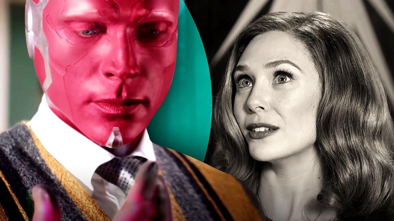Paul Bettany as Vision, Elizabeth Olsen as Scarlet Witch/Wanda Maximoff, WandaVision