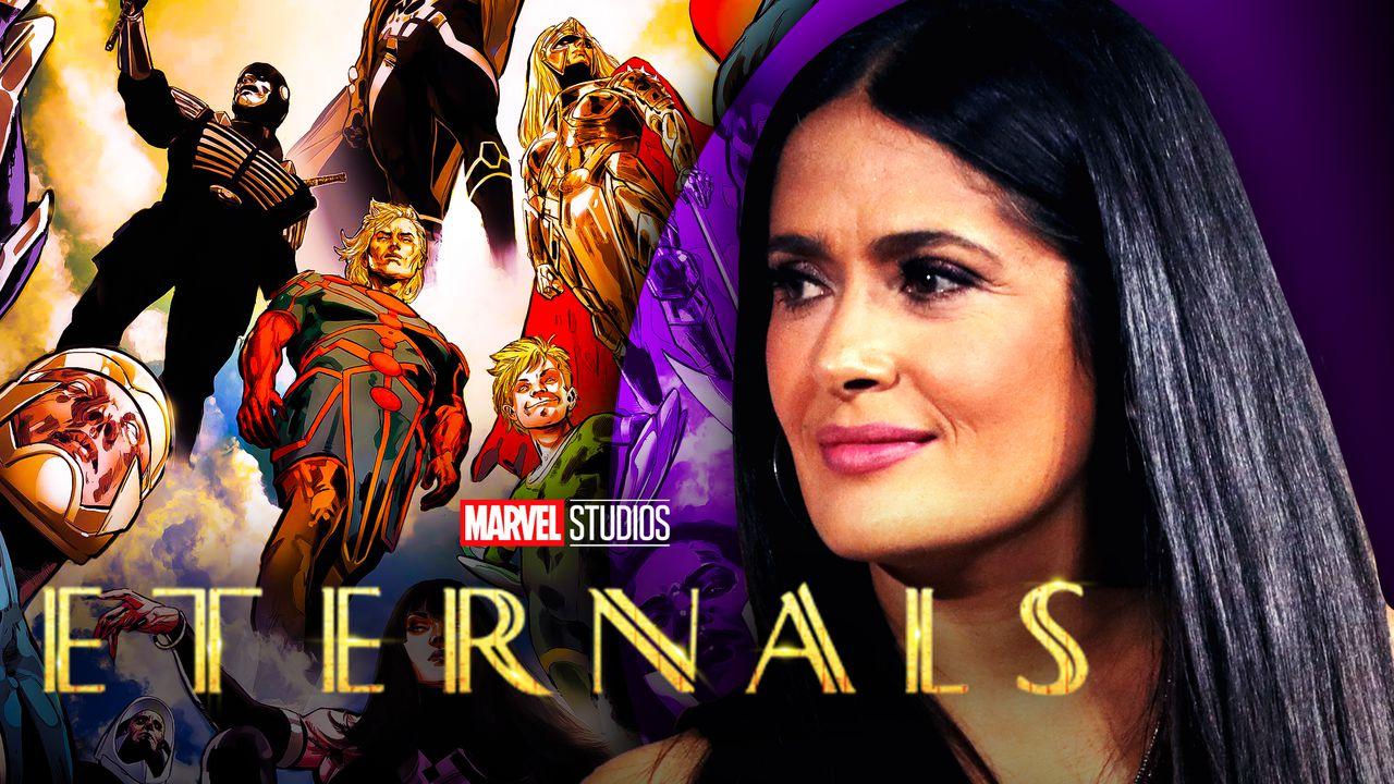 Eternals logo, Salma Hayek, Eternals comics