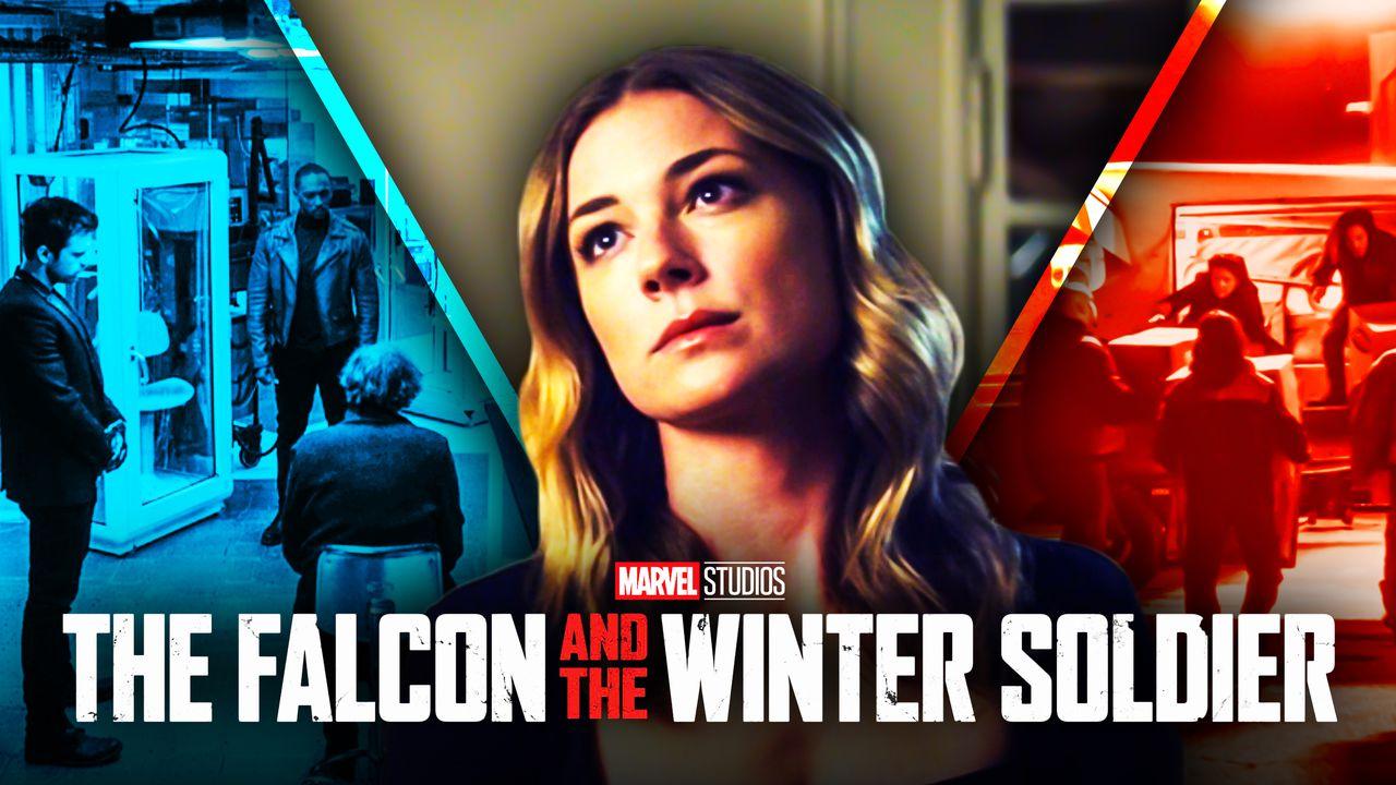 Sharon Carter Falcon and Winter Soldier logo