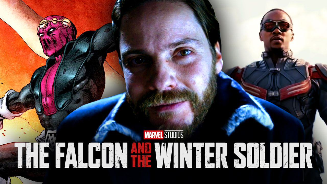 Baron Zemo from Marvel Comics, Daniel Bruhl, Sam Wilson, The Falcon and the Winter Soldier logo