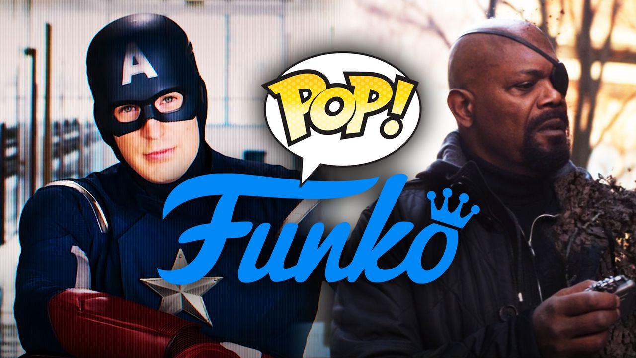 Captain America, Nick Fury, Funko logo