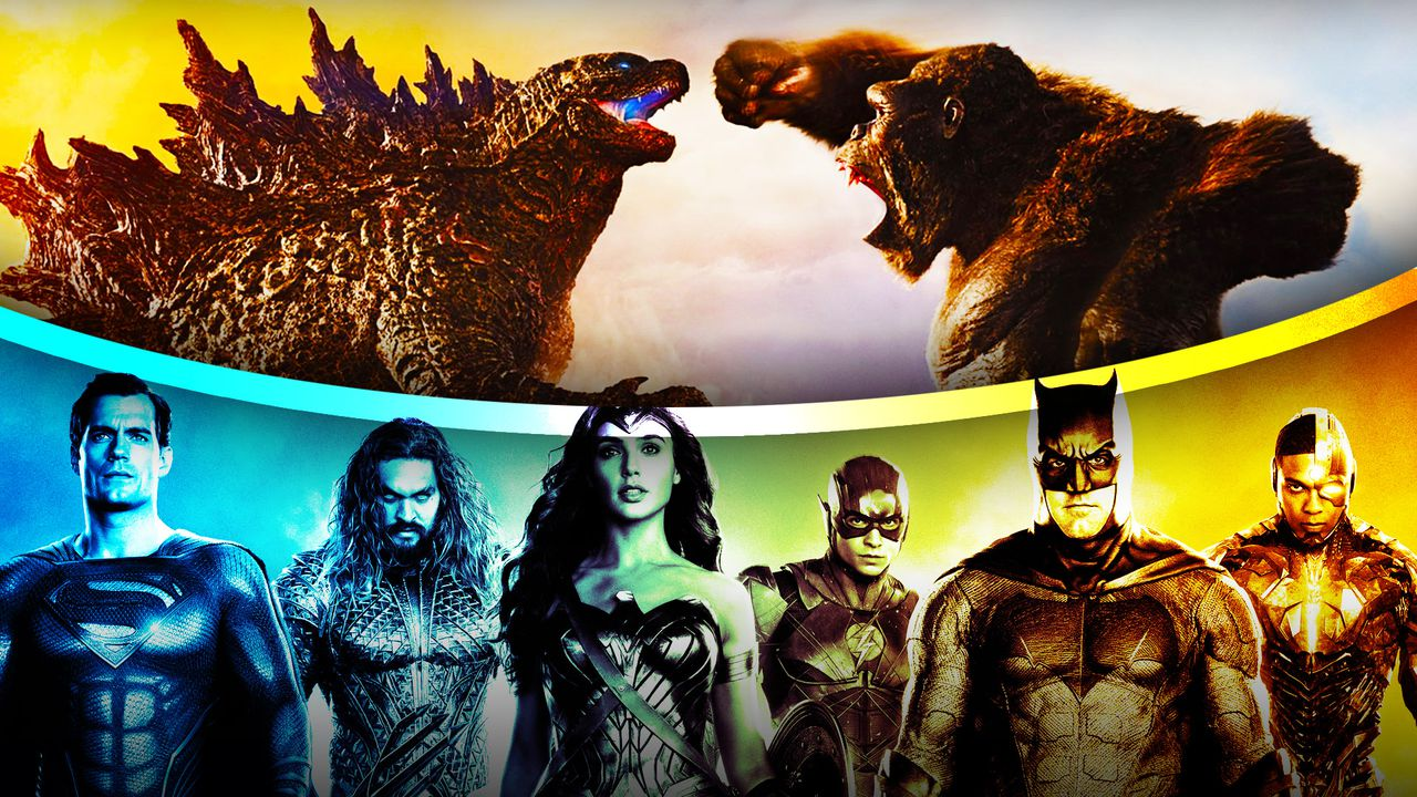 Godzilla vs. Kong with the Justice League