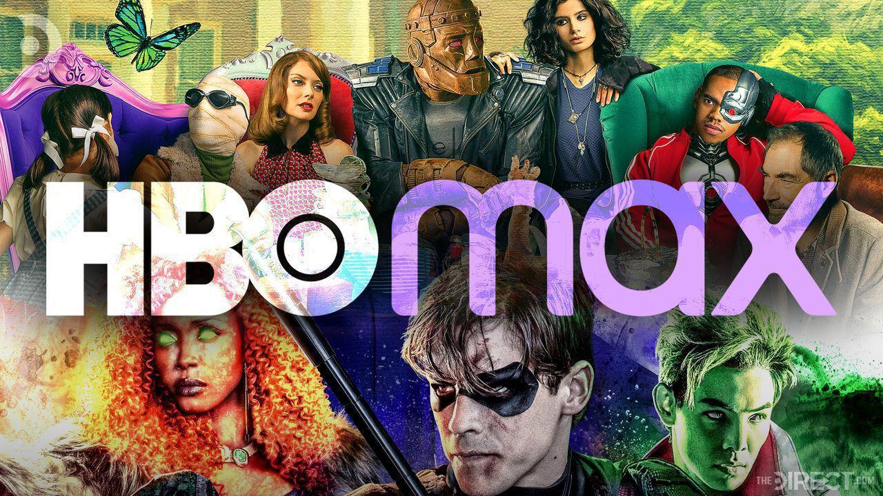 HBO Max Logo, Doom Patrol characters, Titans characters