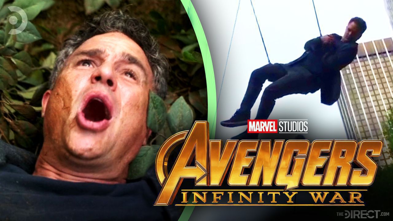 Bruce Banner and Mark Ruffalo on Stunt Wires