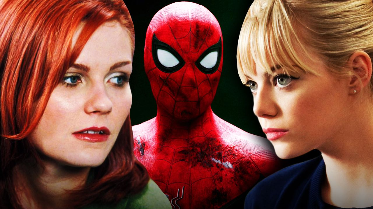 Spider-Man, Kirsten Dunst as Mary Jane, Emma Stone as Gwen Stacy