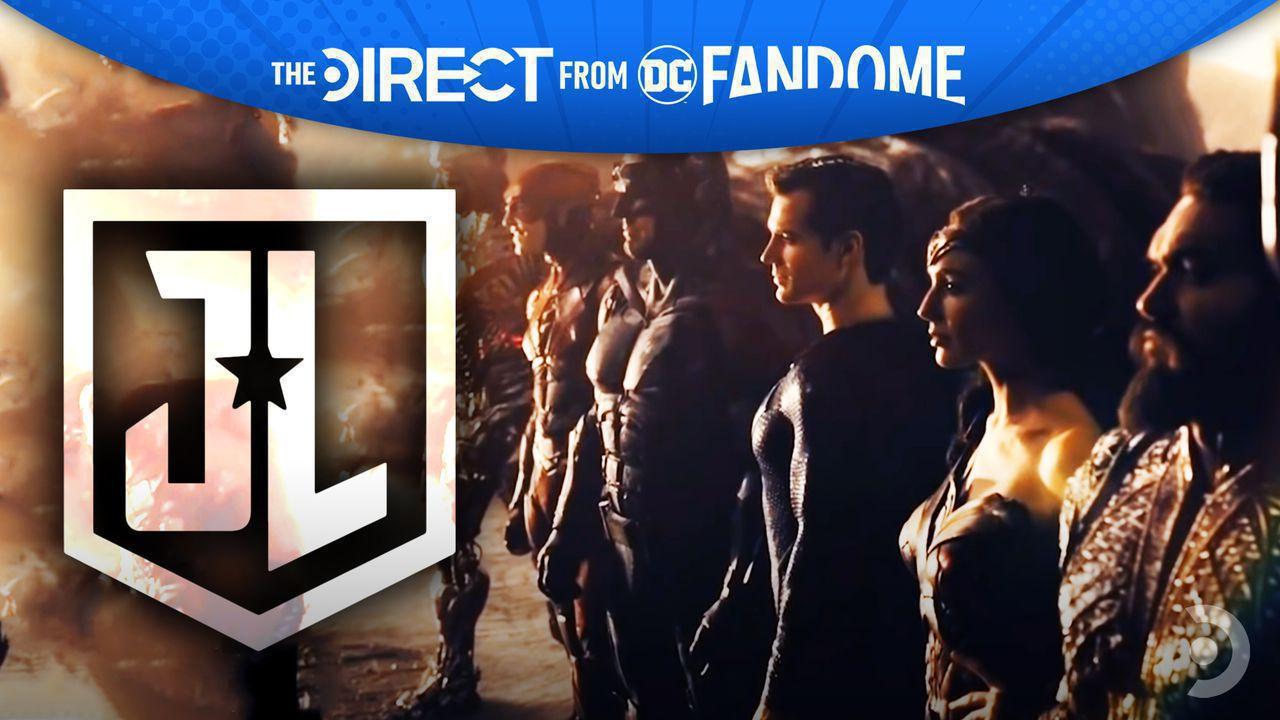 Justice League Logo, The Justice League, DC FanDome/The Direct banner
