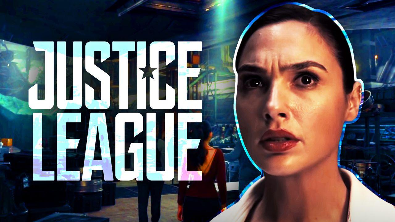 Justice League logo, Gal Gadot as Diana Prince