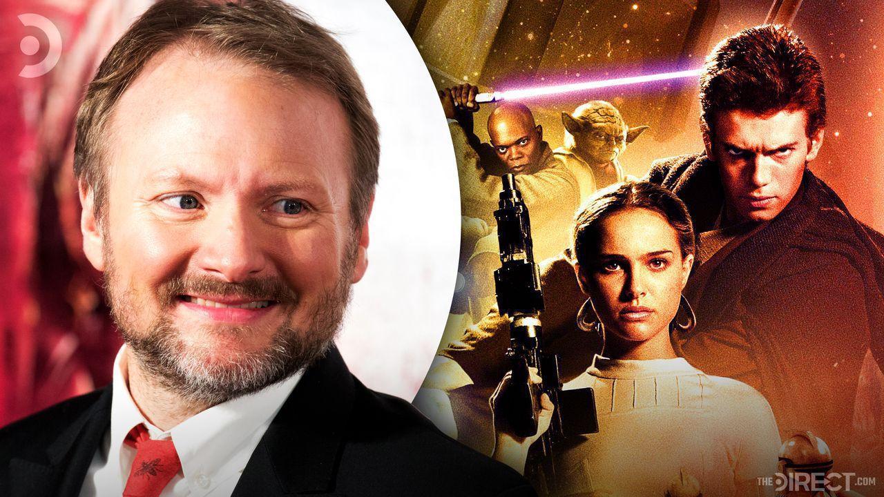 Director Rian Johnson, Mace Windu, Yoda, Anakin Skywalker & Padme Amidala from Attack of the Clones