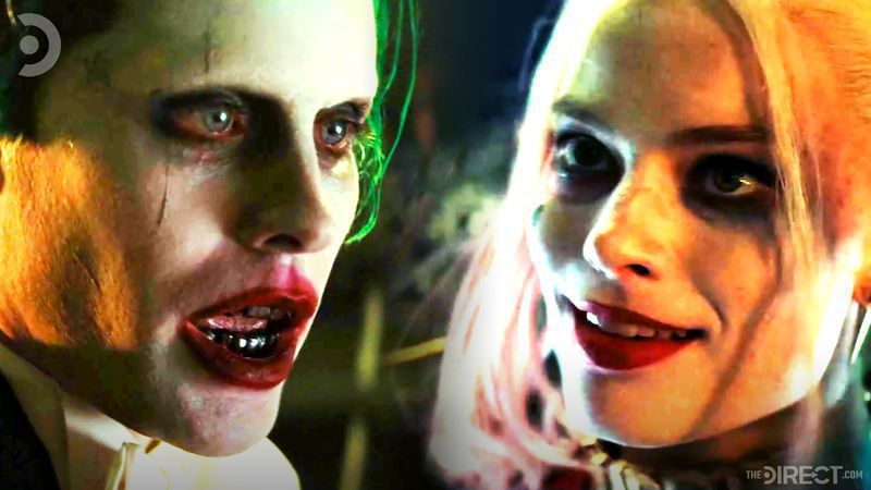 The Joker portrayed by Jared Leto, and Harley Quinn portrayed by Margot Robbie