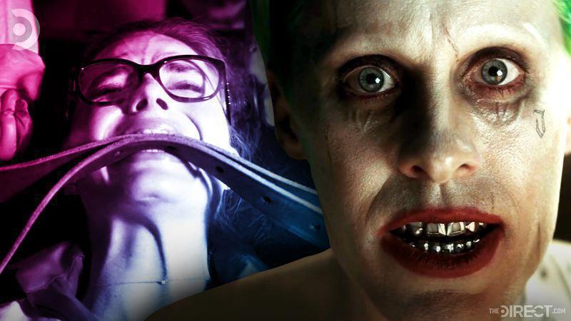 Margot Robbie as Harley Quinn with Jared Leto's Joker