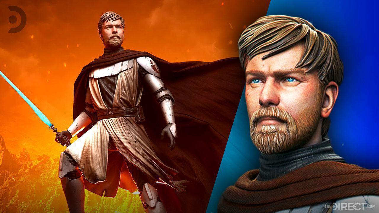 General Kenobi Clone Wars Statue