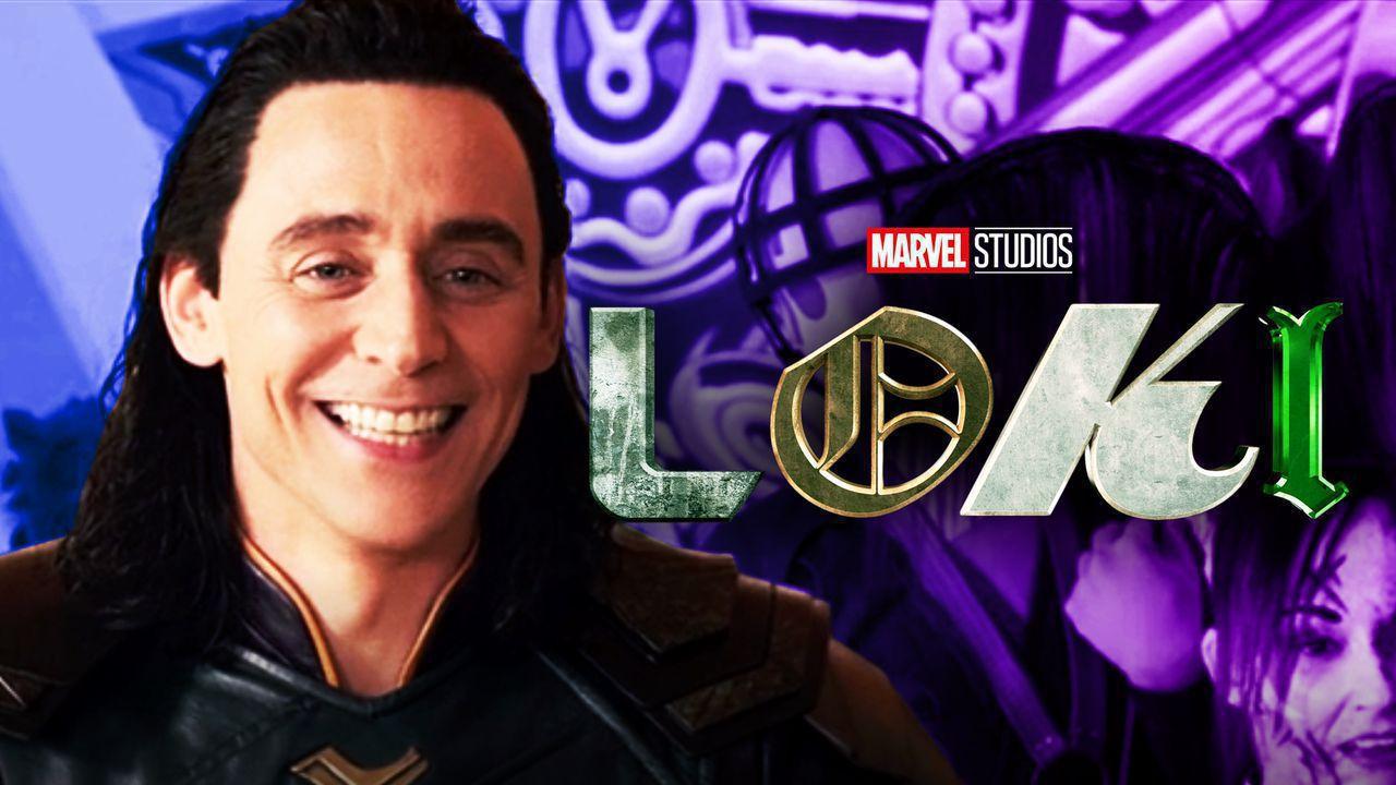 Loki, set photo, Loki logo
