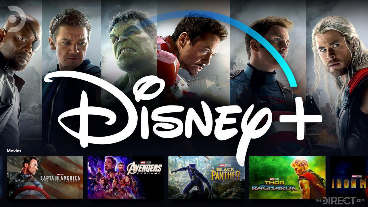 Disney+ display showing multiple tabs for MCU movies