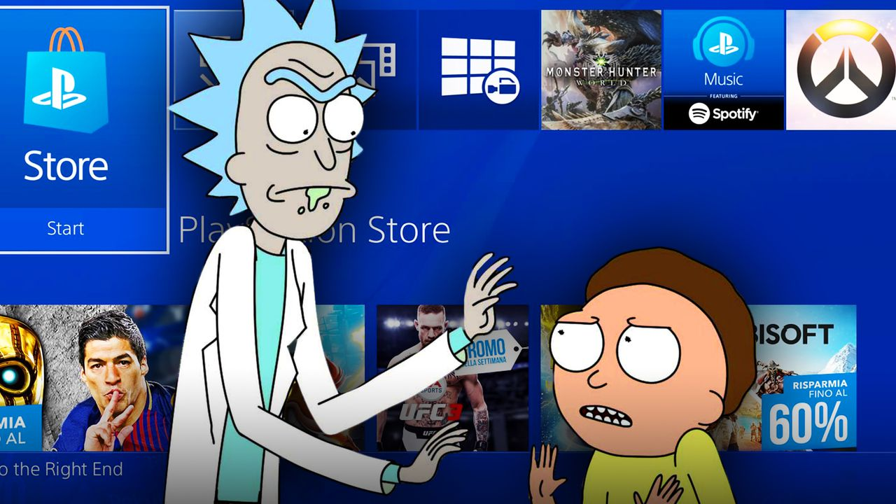 Rick and Morty, PlayStation Background