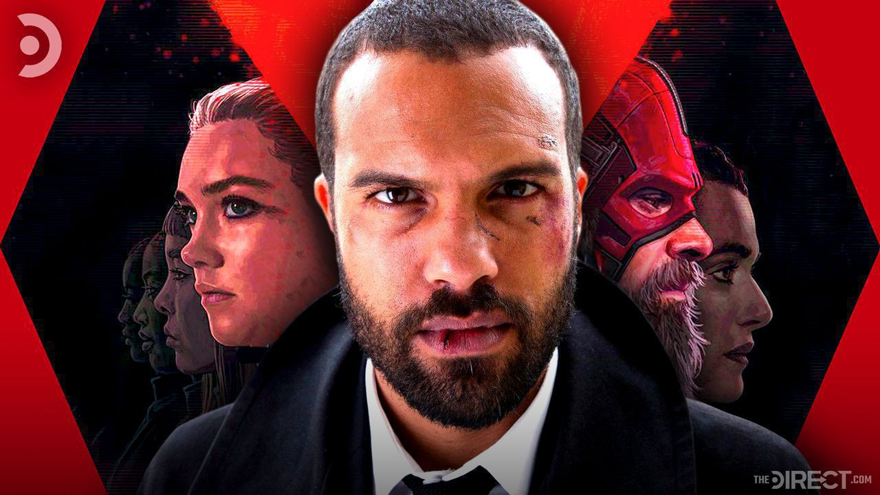 O. T. Fagbenle in foreground with rest of cast in background