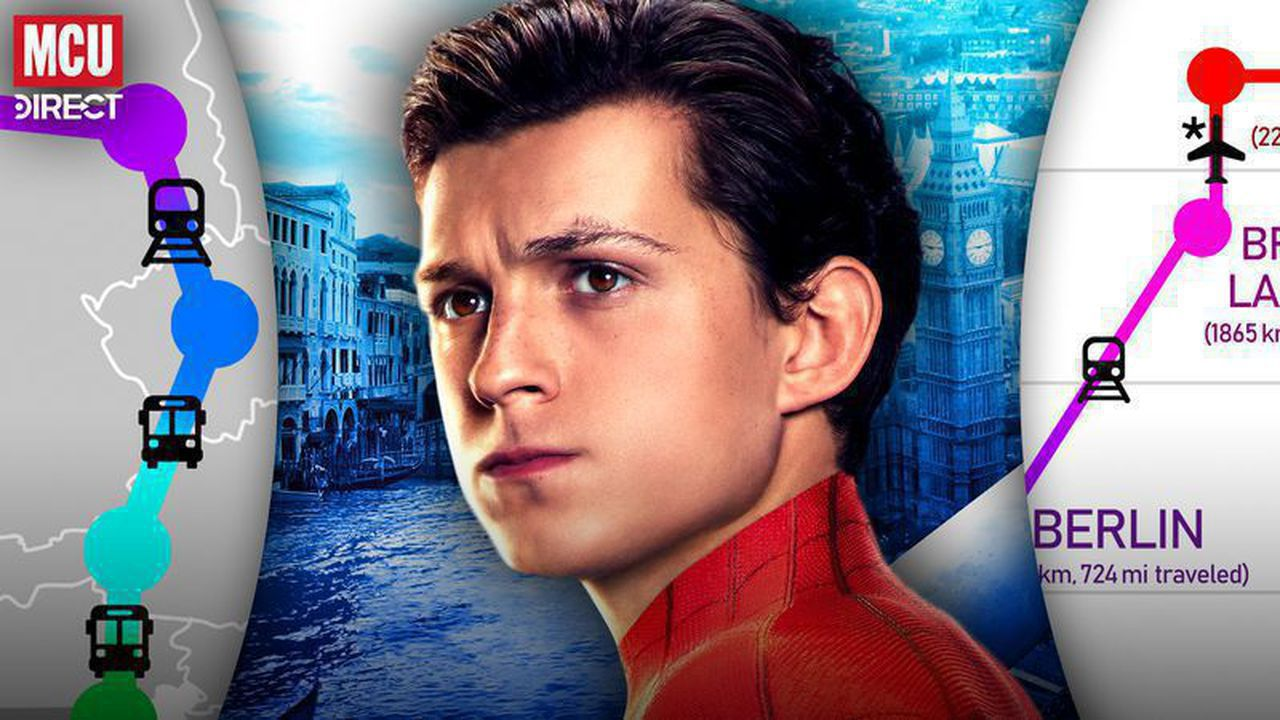 Tom Holland's Peter Parker Spider-Man: Far From Home