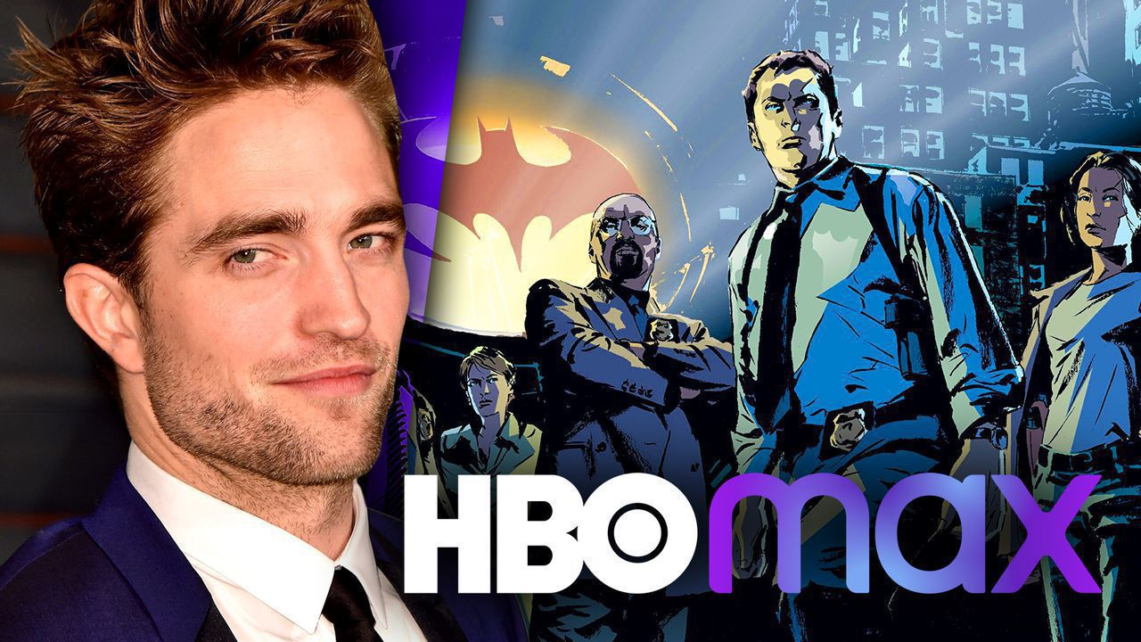 Robert Pattinson, Gotham officers, HBO Max logo