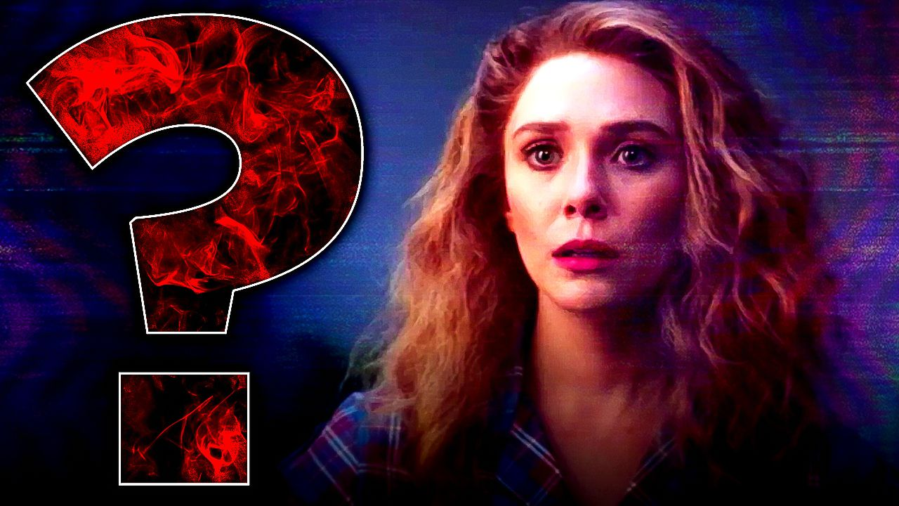 Wanda Maximoff with red energy question mark