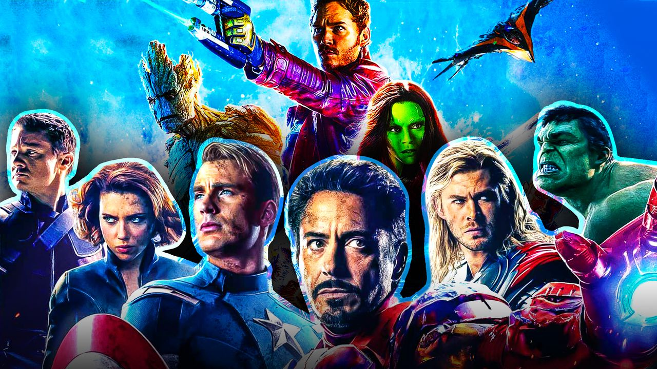 Avengers and Guardians of the Galaxy together