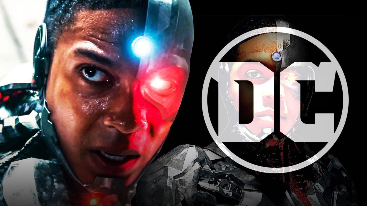 Ray Fisher as Cyborg, DC logo