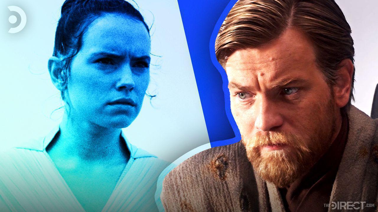 Daisy Ridley as Rey and Ewan McGregor as Obi-Wan Kenobi
