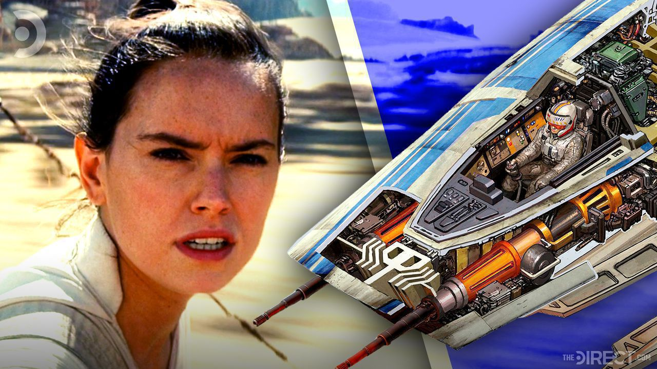 Daisy Ridley as Rey, X-Wing Cover Art