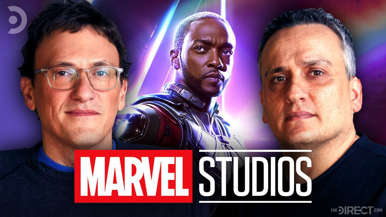 Anthony Russo, Anthony Mackie, Joe Russo, and the Marvel Studios logo