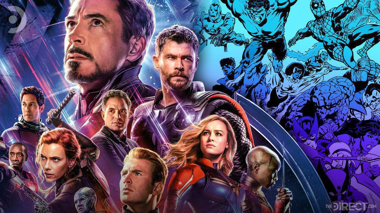 Avengers Endgame poster and Secret Wars comic