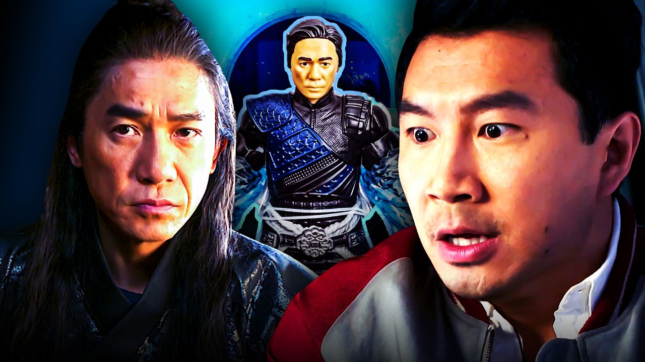 Tony Leung as The Mandarin, Wenwu toy, Simu Liu as Shang-Chi