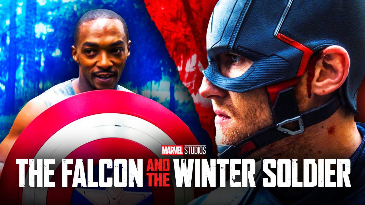 Sam Wilson with Captain America's Shield, John Walker