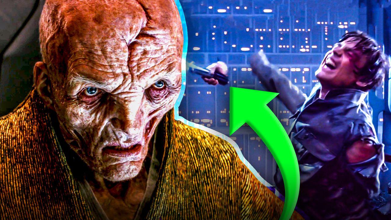 Snoke Luke Skywalker Hand