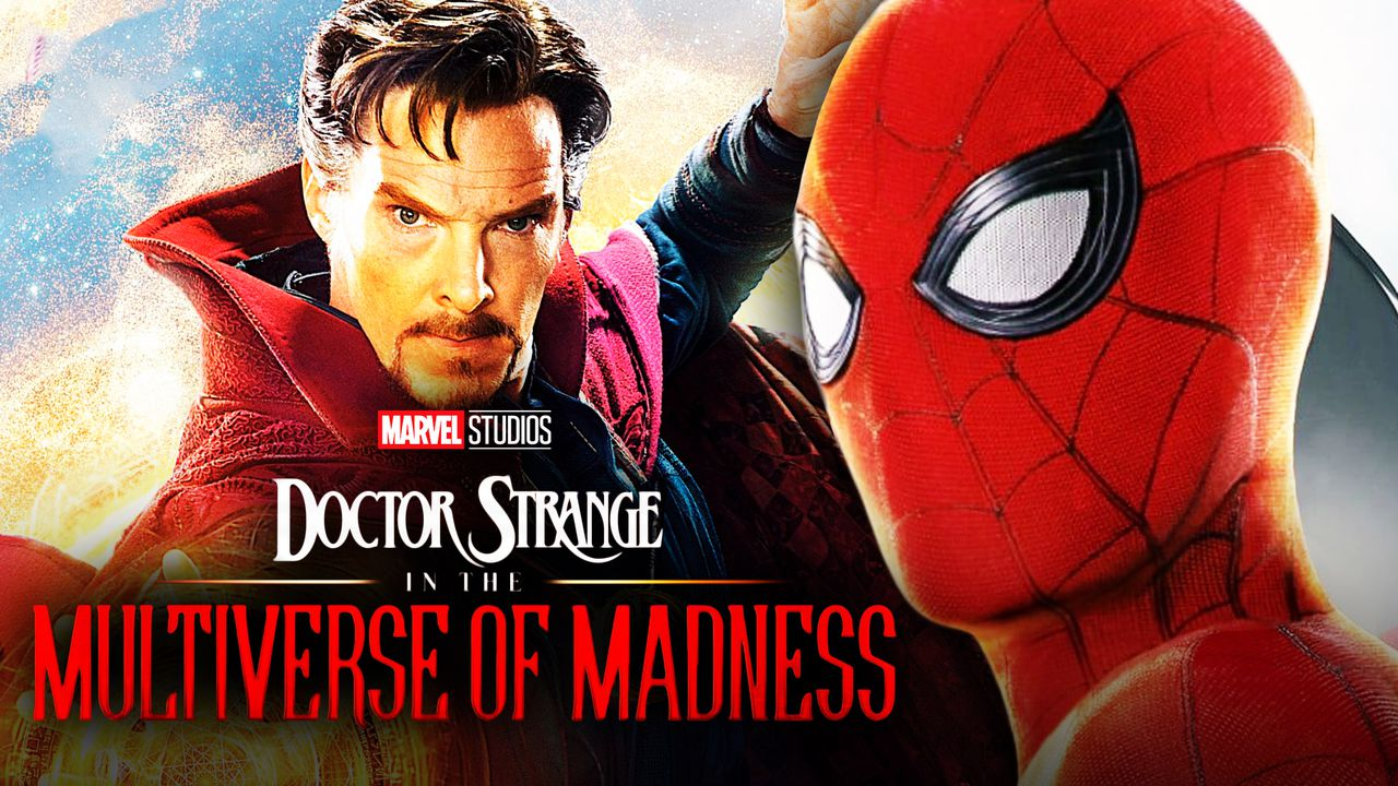 Tom Holland as Spider-Man, Benedict Cumberbatch as Doctor Strange